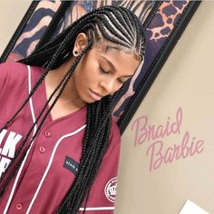 hairstyles hairstyles hairstyles One of the must-have hairstyles Ladies should try out this halve of the year 2018 are the Fulani braids. Fulani braids have been in and out of the s… Black Girl Braids, Braids For Black Hair, Girls Braids, Box Braids Hairstyles, My Hairstyle, Protective Hairstyles, Protective Styles, Braid Hairstyles With Weave, Cornrolls Hairstyles Braids