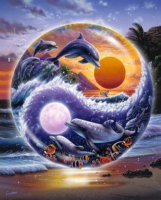Yin & Yan of Life Art Print | Hawaiian Art from Hawaii - HawaiiArt.com