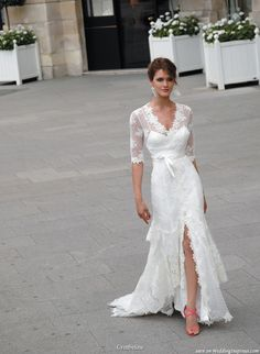 wedding dress with sleeves <3