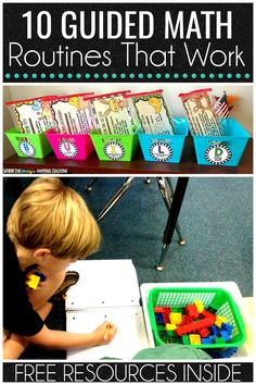 An article with 10 tips to get your guided math workshop rolling from the start. This article is for teachers of students in first and second grade. Great examples using BUILD math centers to be used  during your math rotations. #guidedmath #BUILDmathcenters