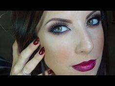 Fall Makeup tutorial: Bronze eyes and berry lips #eyeliner #eyes #eyemakeup #eyeshadow - bellashoot.com  #makeup #Lips