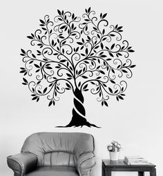 Vinyl Wall Decal Family Tree Of Life Nature Garden Home Decoration Stickers (1200ig)