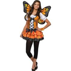 Cute costume for halloween at Party city! Girl Elf Costume, Teen Girl Costumes, Queen Costume, Costumes For Teens, Cute Costumes, Halloween Costumes For Girls, Costume Ideas, Monarch Butterfly Costume, Butterfly Halloween Costume