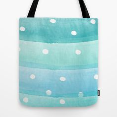 Watercolor Polka Tote Bag Our quality crafted Tote Bags are hand sewn in America using durable, yet lightweight, poly poplin fabric. #watercolor, #painting, #polka dots, #pattern, #feminine, #girly, #cute, #pretty, #illustration
