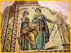 17.Ψηφιδωτό απο την Αρχαία Ζεύγμα...Ancient Roman Mosaic Zeugma...ΚΛΕΙΩ και ΕΥΤΕΡΠΗ..