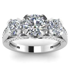 Diamond Rings : Cathedral Ring