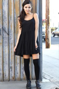 Sweeten up your look with this adorable dress. Features ruched skirt design and a loose babydoll fit. $39 at Obsezz.com