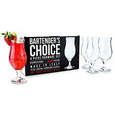 Amici Bartenders Choice Footed Hurricane Glass Drinking Glassware 15 Oz Set Of 4 Drinkware, Barware, Famous Recipe, Color Box, Pina Colada, Hurricane Glass, Glasses, Empty, Glass