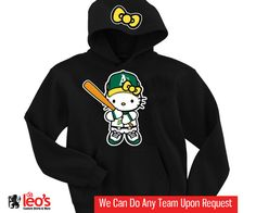 Hello Kitty Oakland Athletics A's Hoodie - 2 Prints (Front-Hood) on Etsy, $32.00