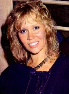 Agnetha at the Polar Music office in summer 1983. Stockholm
