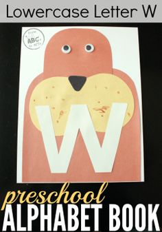 Teach your preschooler the letter W with this adorable construction paper walrus craft!