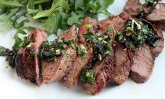 Grilled beef with Vietnamese-style chimichurri