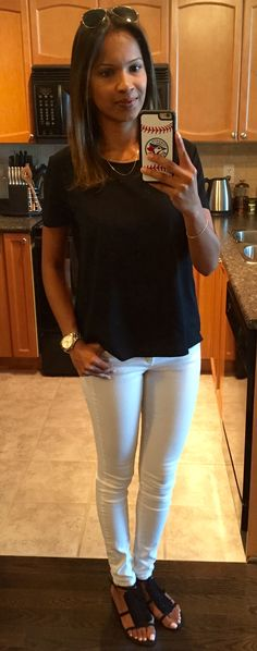 basic black and white with #zara #hm and my trusty #raybans