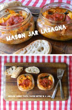 Love this Mason Jar Idea. Great for making recipies for two! Just bake and left…