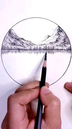 Scenery Drawing Pencil, Easy Scenery Drawing, Beautiful Pencil Drawings, Shading Drawing, Circle Drawing, Art Drawings Sketches Simple, Pencil Art Drawings, Drawing With Pencil, Pencil Drawings For Beginners