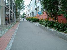 Käsityökatu near the Train Station. Pedestrian, Train Station, Finland, Sidewalk, Country, Rural Area, Walkways, Pavement, Country Music