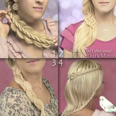 Braided summer hairstyles from http://www.lilithmoon.com/2013/07/summer-hairstyles-for-long-hair.html