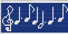 Ravelry: Silent Night Musical Notes pattern by Jen Curran