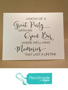 Custom Will You Be My Bridesmaid Card / Maid of Honor Cards / Bridesmaid Flower Girl Personalized Card Invite Bridesmaid Proposal {Great Party} from Mrs. Case's Shop http://smile.amazon.com/dp/B018TJVNH2/ref=hnd_sw_r_pi_dp_iozNwb11CT1TP #handmadeatamazon
