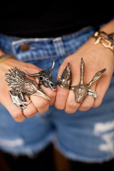 Wouldnt wear them all at once but...Inspiration for your fingers/jewellery... statement rings