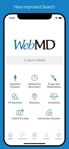 Webmd The Best Health App Here Are The Key Features Symptom Checker Medication Reminders Local Physician And He Medical App Health App Drug Interactions