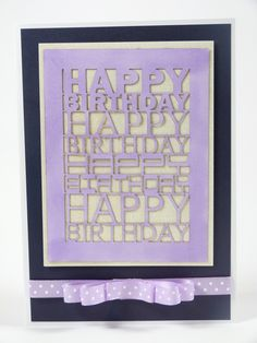 'Happy Birthday' - Plaque Die from the Tattered Lace range. Available exclusively from hobbycraft. Tattered Lace Cards, Die Cut Cards, Hobbies And Crafts, Lace Overlay, Doilies, Happy Birthday, Gift Wrapping, Scrapbook, Overlays