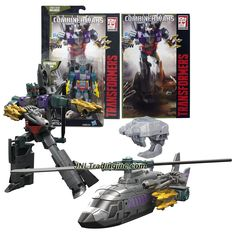 """Hasbro Year 2015 Transformers Generations Combiner Wars Series 5-1/2"""" Tall Robot Figure - Decepticon VORTEX with Blaster, Bruticus' Left Arm and Comic Book (Vehicle Mode: Helicopter)"""