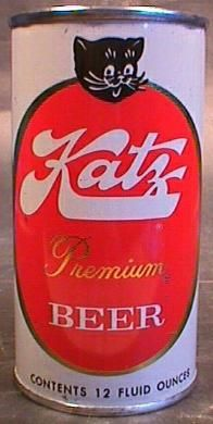 beer, packaging, vintage ... even the cat likes the Katz beer ...