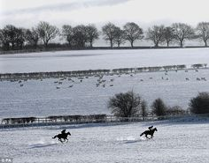 A view of the winter countryside near Malton in North Yorkshire.