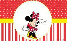 Minnie Vermelha – Kit festa infantil grátis para imprimir – Inspire sua Festa ®