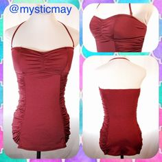 HP New J. CREW Burgundy Retro Tank Swimsuit New. Retail: $128. Jersey Lomellina Retro Tank Swimsuit from J. Crew in a burgundy color that converts from halter to strapless. Skirted construction and ruching on the sides. Lightly padded cups and full coverage. Satiny sheen and silky drape. Size 6 or Small. Beautiful bathing suit!   **Bundle with Another Item to Get 15% Off Automatically!** J. Crew Swim One Pieces