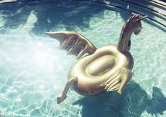 D R O G O N One-of-a-kind luxury giant gold dragon float Introducing the most bad-ass pool float EVER. Our gold dragon float 'Drogon' isn't for the faint hearte
