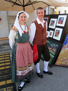 FolkCostume&Embroidery: Rhaetian costumes, part 3, Friuli or Furlan