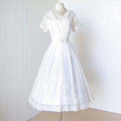 vintage 1940's dress ...beautiful SWEETHEART shelfbust by traven7, $230.00