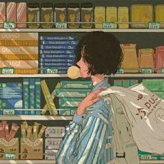 Aesthetic Japan, Japanese Aesthetic, Aesthetic Themes, Aesthetic Art, Aesthetic Anime, Girl Cartoon, Cartoon Art, Cute Anime Character, Character Art