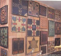 Gameboards- I love the idea of collecting these antique ones!