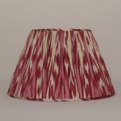 "16"" pink red cream ikat shade"