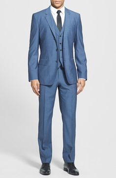 Blue Three Piece Suit by Hugo Boss. Buy for $995 from Nordstrom