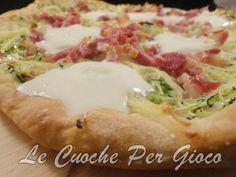 Pizza zucchine, patate e pancetta, leccatevi i baffi...