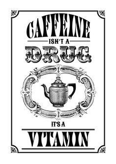Vintage coffee inspired art print SALE only 10 by FizzyLemonadeUK