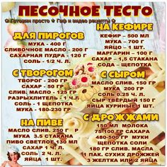 Russian Pastries, Baking Recipes, Dessert Recipes, Famous Drinks, Chicken Recipes Video, Russian Recipes, Seafood Dishes, Tasty Dishes, Easy Healthy Recipes