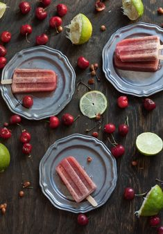 Cherry Lime Popsicles with Honey | Sweet Remedy