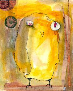 'Yellow Owl' by Carla Sonheim
