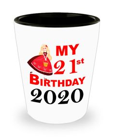 21st Birthday Gift for Her   Funny Shot Glass for 21 Birthday Queen   Princess Birthday Gift   Gift for Best Friend Turning 21 Shotglass   50th Anniversary Gifts, Golden Anniversary, Anniversary Funny, 21 Birthday, Princess Birthday, Special Birthday Gifts, Birthday Gifts For Her, Turning 21, Glass Material