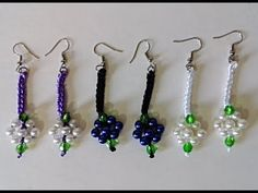 Brinco Luára - Aprenda a fazer! - YouTube Crochet Jewelry Patterns, Crochet Earrings, Gems, Drop Earrings, Youtube, Jewelry Patterns, Bead Earrings, Crochet Flowers, Crystals