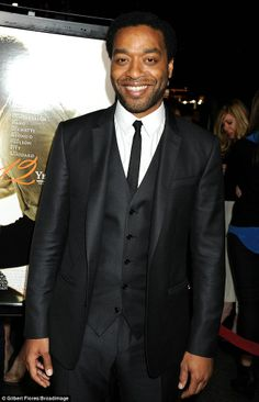 Plenty to smile about: Chiwetel Ejiofor was centre of attention on the red carpet on Monday evening at an official reception for his latest film