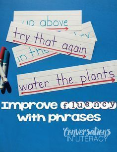 Tips for Building Fluency- fluency activities and ideas