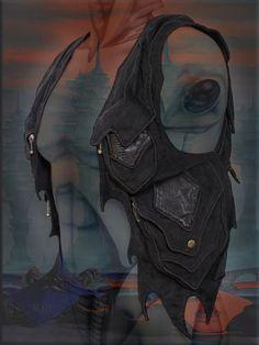 Burning man festival couture tribal utility Hip pocket shoulder holster bag purses.