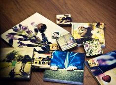 DIY Picture Tiles – Never Buy A Picture Frame Again... these are so cool. Even has instructions on how to mount them properly so they stay on the wall.