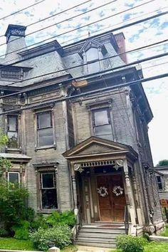 1885 Second Empire For Sale In Plattsburgh New York Plattsburgh New York, Eclectic Frames, Second Empire, Ceiling Height, Historical Architecture, Abandoned Buildings, Architectural Elements, Historic Homes, Absolutely Gorgeous